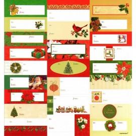 Etichete cadouri de craciun, amscan 262020, set 25 buc