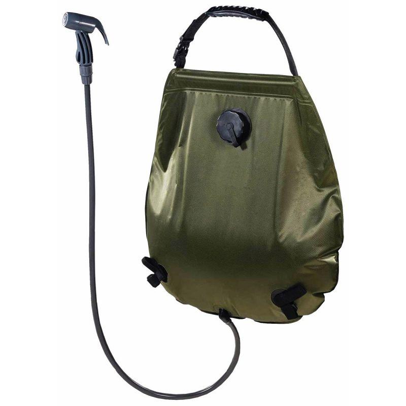 MFH Dus solar camping portabil deluxe 20 litri cu termometru