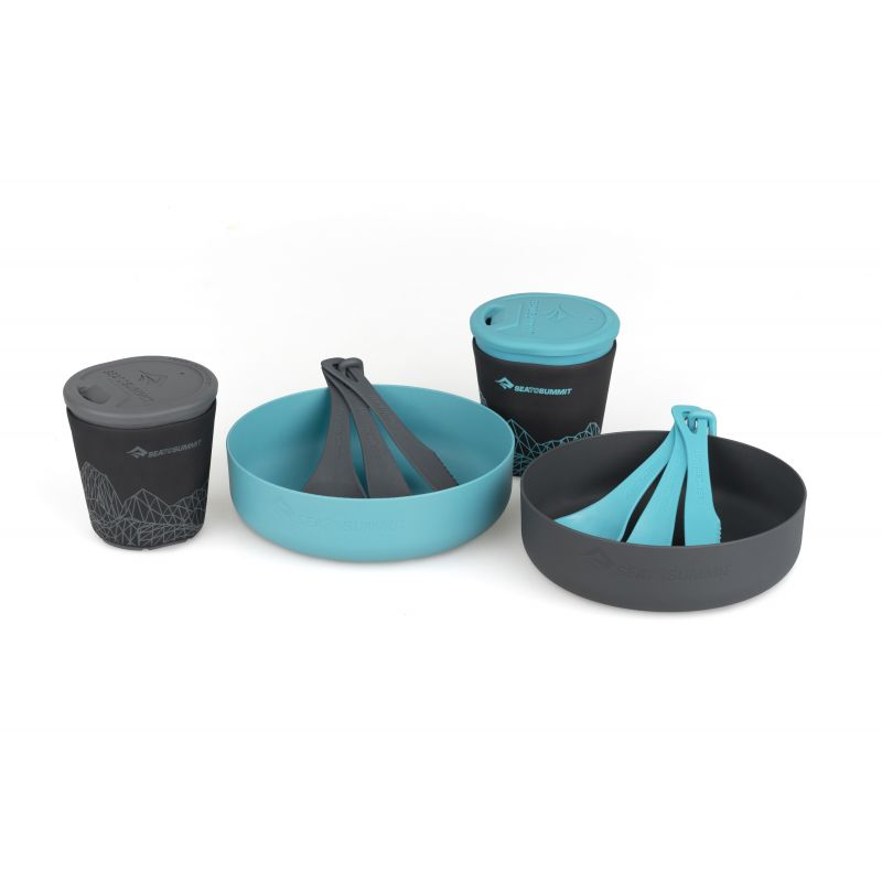 Sea To Summit Set vase camping 2 persoane Sea To Summit Delta Light Camp Set 2.2 Pacific Blue / Grey