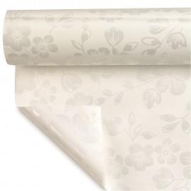 Coala pentru ambalat cu flori - alb perlat