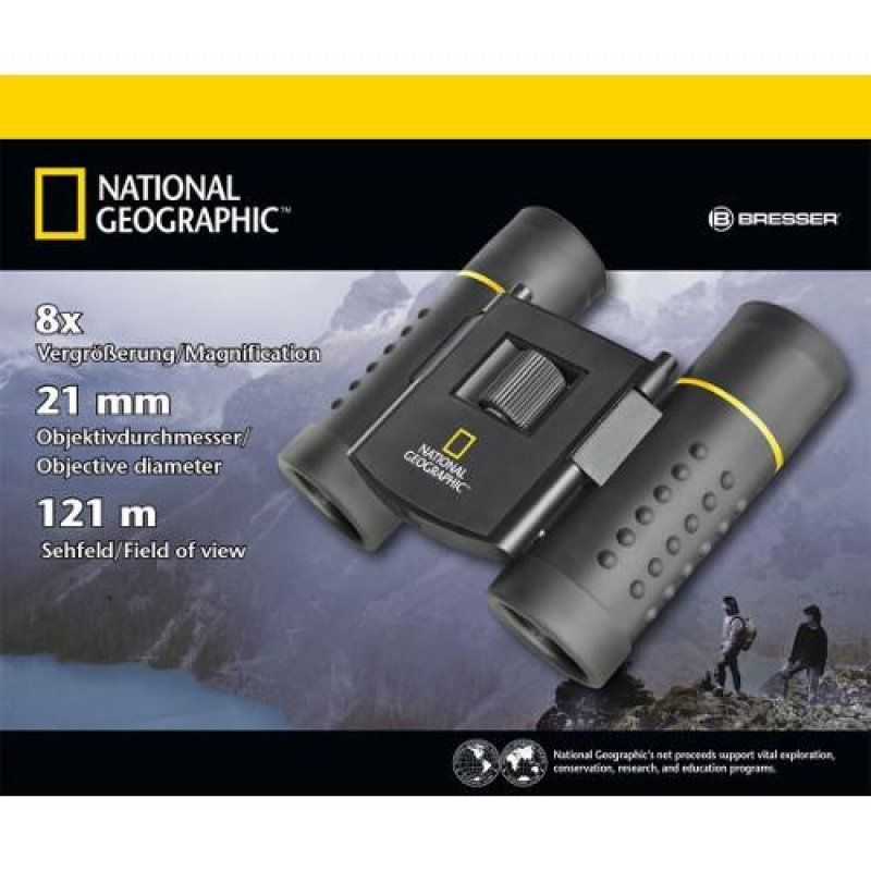 National Geographic Binoclu de Buzunar 8 x 21