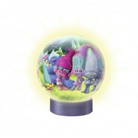Ravensburger puzzle 3d luminos trolls, 72 piese