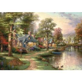 Puzzle Lacul din orasul natal 1500 piese