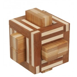 Fridolin Joc logic IQ din lemn bambus Double sticks