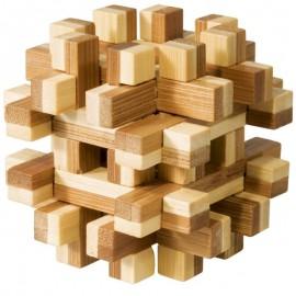 Fridolin Joc logic IQ din lemn bambus Magic blocks puzzle 3d