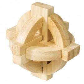 Fridolin Joc logic din lemn de bambus Disc dublu
