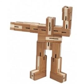 Fridolin Joc logic puzzle 3D din bambus Flexi-cub