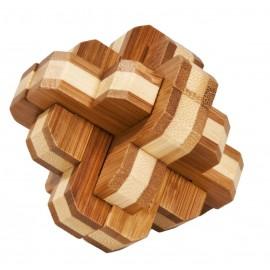 Fridolin Joc logic IQ din lemn bambus 3D Round Knot