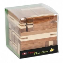 Fridolin Joc logic puzzle 3D din bambus Flexi-cub 3