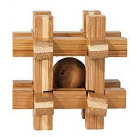 Fridolin Joc logic IQ din lemn de bambus Box with ball