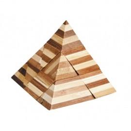 Fridolin Joc logic IQ din lemn bambus 3D Pyramid