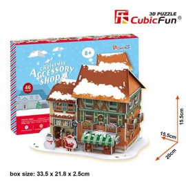 Cubicfun Christmas Accessory Shop - Puzzle 3D - 46 piese