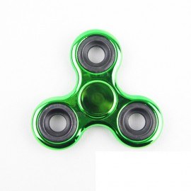 Fidget Spinner metalic look - verde