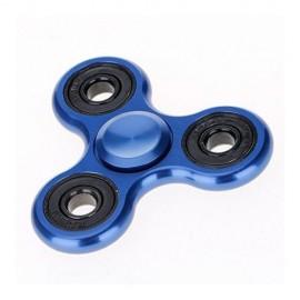 Fidget Spinner metalic look - albastru