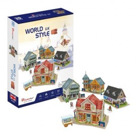 Case traditionale din UK - Puzzle 3D - 171 piese