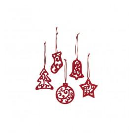 Alexer ornamente pentru craciun - set 5 bucati, pasla