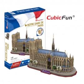 Cubicfun Catedrala Notre Dame Paris Franta (var2) - Puzzle 3D - 128 de piese