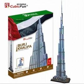 Cubicfun Burj Khalifa Dubai - Puzzle 3D - 136 de piese