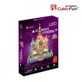 Catedrala Sf Vasile - Puzzle 3D cu LED - 224 de piese