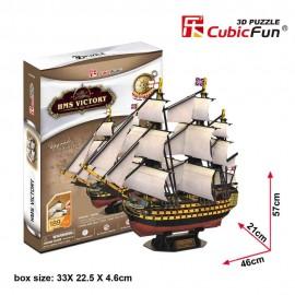 Cubicfun Corabia HMS Victory - Puzzle 3D - 189 de piese