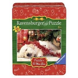 Ravensburger puzzle craciun - catelus somnoros, 80 piese