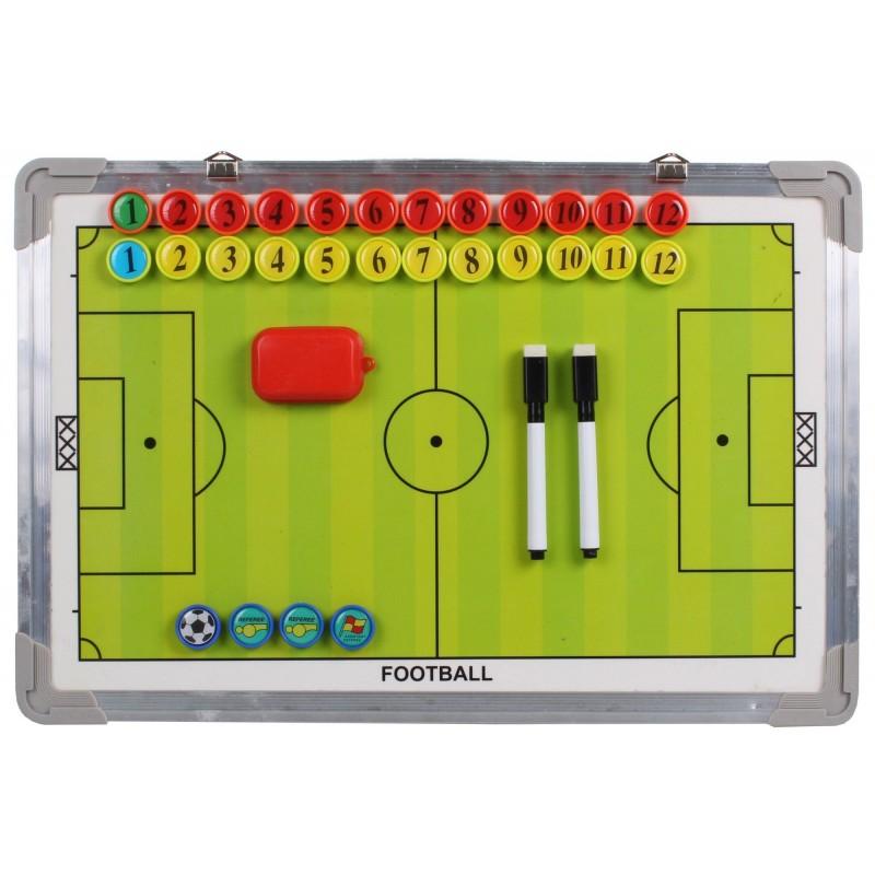 Sport season tabla antrenor fotbal, magnetica, 2 fete, cu magneti
