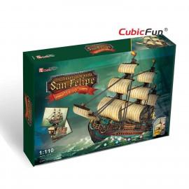 Cubicfun Corabia San Felipe - Puzzle 3D - 284 de piese