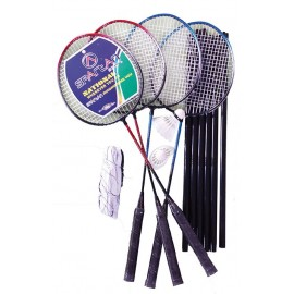 Spartan sport set badminton 4 rachete, fileu si 2 fluturasi