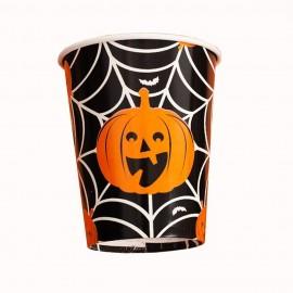 Pahare carton halloween, 52563, set 8 bucati