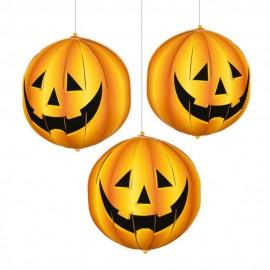 Decoratiuni forma dovleci 3d halloween - amscan 240241, set 3 buc