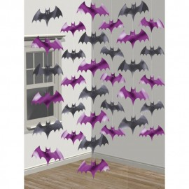 Decor de agatat, lilieci halloween - 210 cm, amscan 672000, set 6 buc