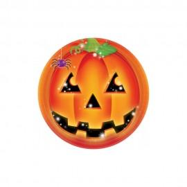 Farfurii carton pentru petrecere halloween - 23 cm, amscan 5511591, set 8 buc