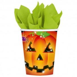 Pahare carton pentru petrecere halloween - 266 ml, amscan 5811591, set 8 buc