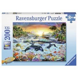 Ravensburger puzzle paradisul delfinilor, 200 piese