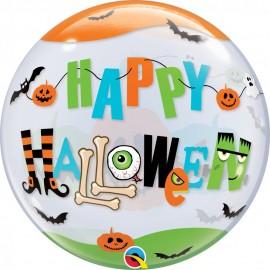 "Balon bubble 22""/56 cm halloween fun font, qualatex 89728"