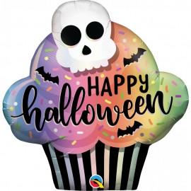 Balon folie figurina halloween cupcake - 81 cm, qualatex 89932