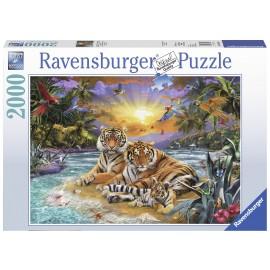 Ravensburger puzzle tigri, 2000 piese