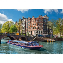 Ravensburger puzzle turul canalului in amsterdam, 1000 piese