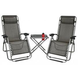 Set  2 scaune si masa Abey Camp Patio 3 buc